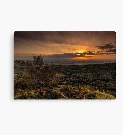 Sutton Sunset North Yorkshire Canvas Print