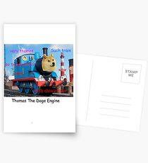 Thomas The Doge Engine Postcards