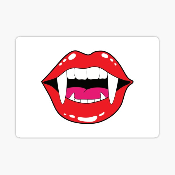 Vampire Mouth  Sticker