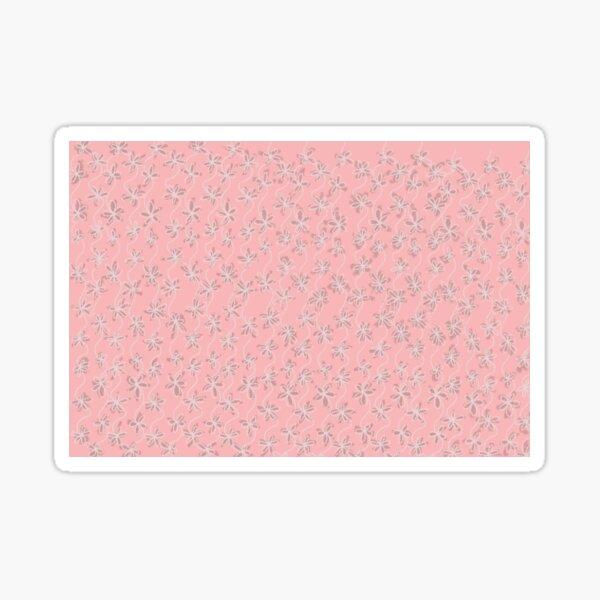 Feminine Pink Pastel Flower Pattern Sticker