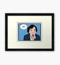 Sherlock Pop Art Framed Print