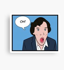 Sherlock Pop Art Canvas Print