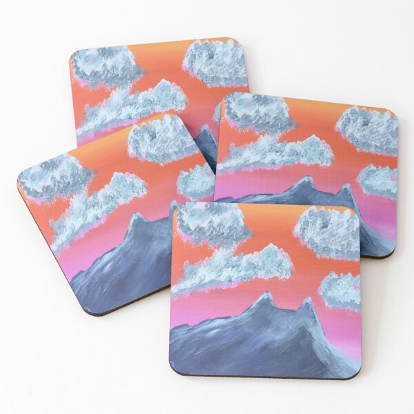 Cat Mountain Coasters (Set of 4)