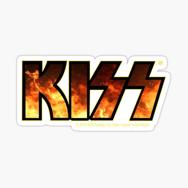 KISS (Flames Fire Logo) Sticker
