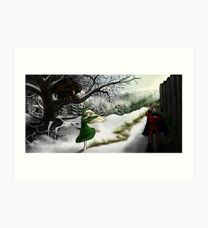 Idunn and Loki: Midwinter Meander Art Print
