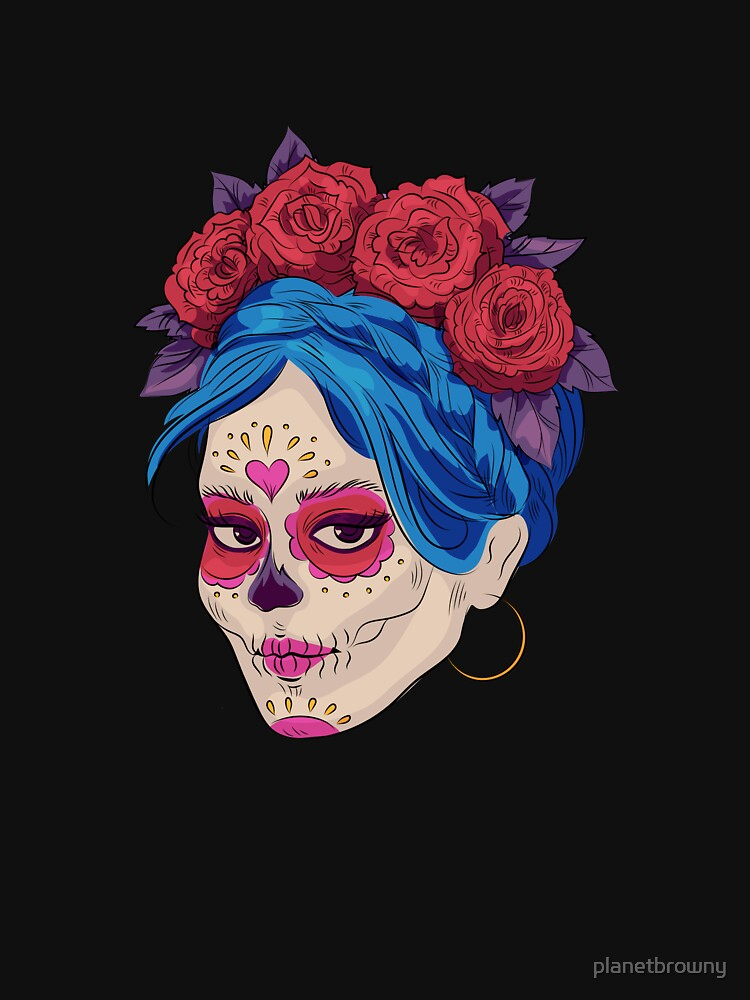 Day of the Dead Makeup von planetbrowny