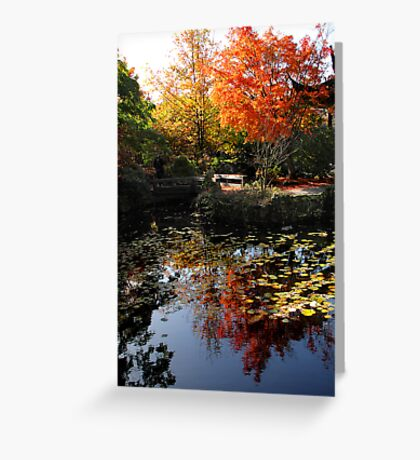 Chinese Garden in Autumn: Vancouver Greeting Card