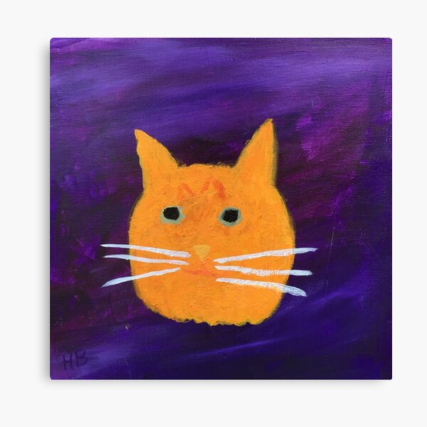 Orange Tabby Cat Face Abstract  Canvas Print