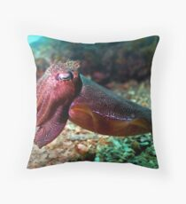 Cuttlefish Throw Pillow