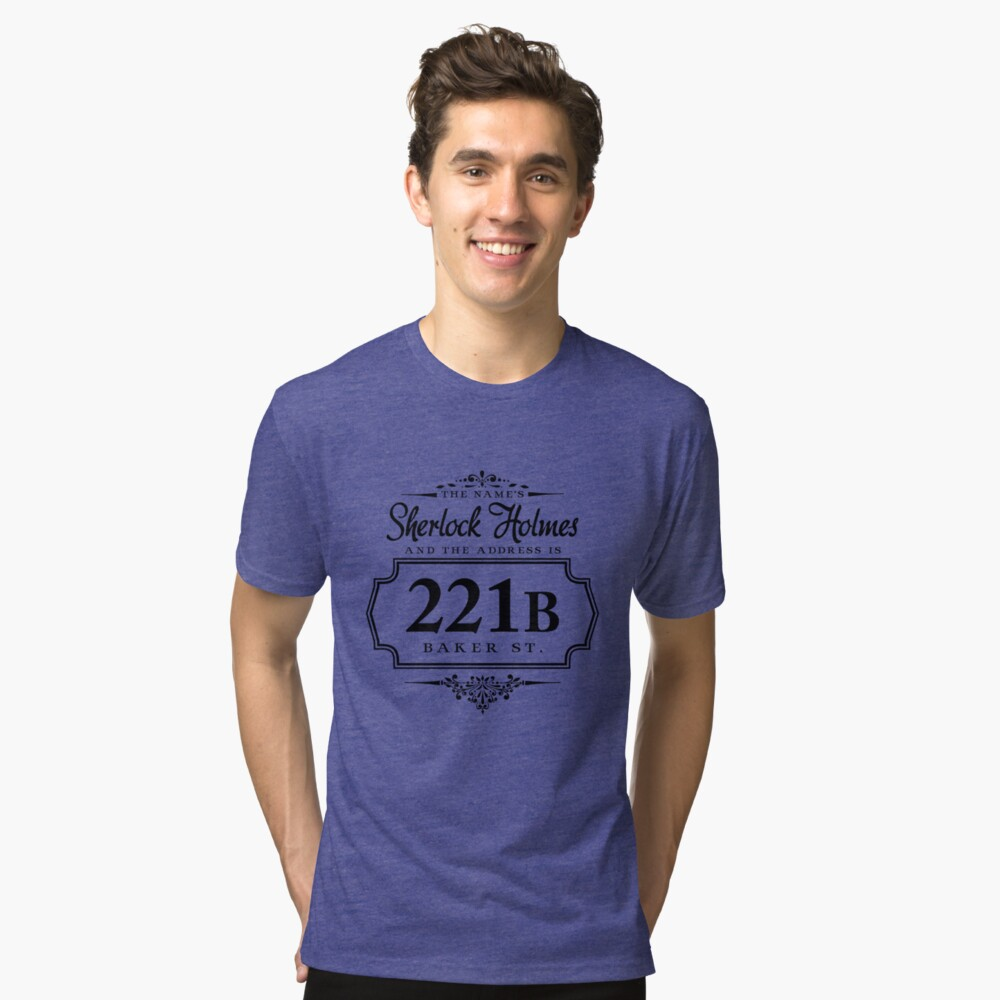 The name's Sherlock Holmes Tri-blend T-Shirt Front