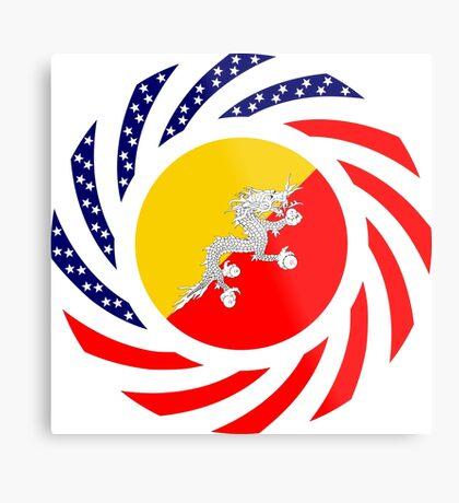 Bhutanese American Multinational Patriot Flag Series Metal Print