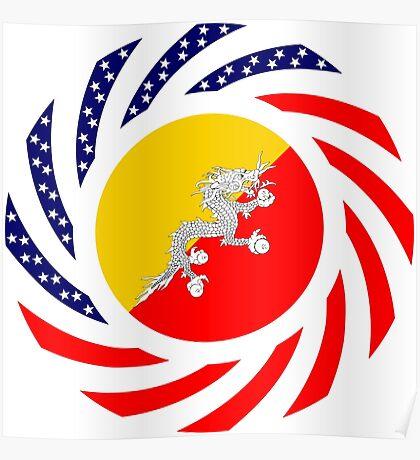 Bhutanese American Multinational Patriot Flag Series Poster