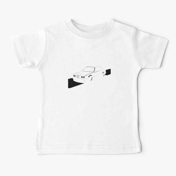 E30 Retro - Black Print Baby T-Shirt