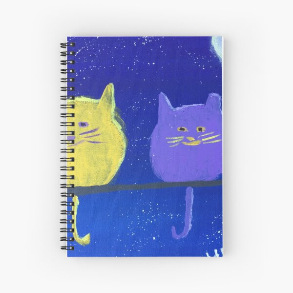 Two Plumpy Cats Spiral Notebook