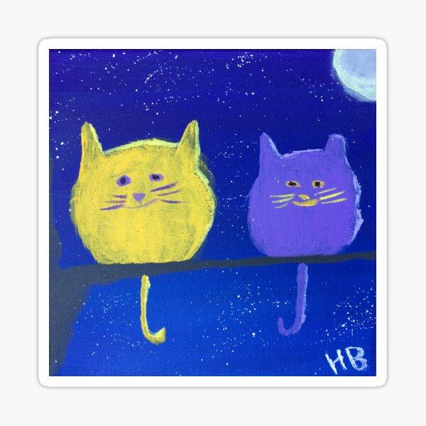 Two Plumpy Cats Sticker
