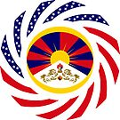 Tibetan American Multinational Patriot Flag Series by Carbon-Fibre Media