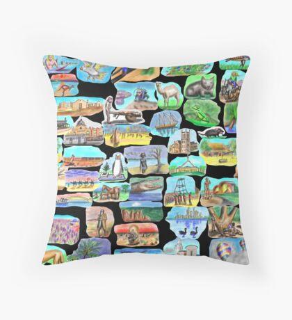AUSTRALIA - Symbolically speaking Throw Pillow