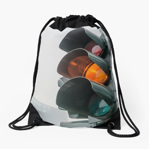 Traffic light Drawstring Bag