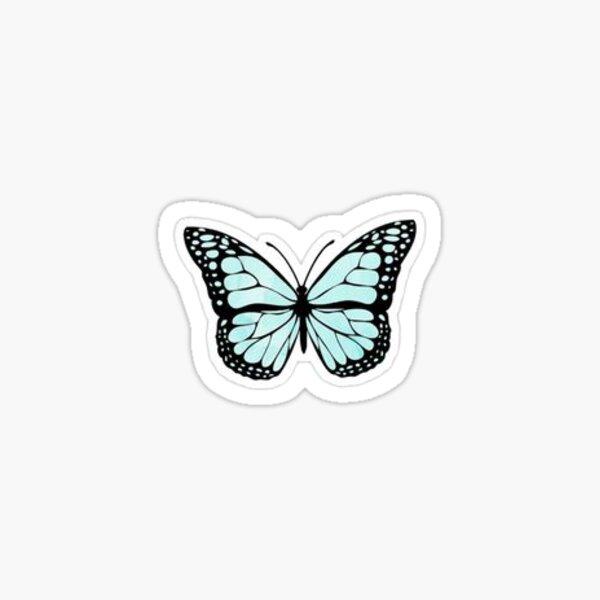 Asthetic Blue Butterfly  Sticker
