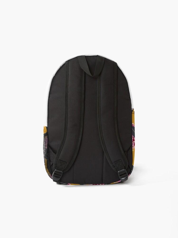 Alternate view of Groovy Grevillea on mustard  Backpack