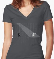 The Matrix - Minimal T-Shirt (No Title) Women's Fitted V-Neck T-Shirt