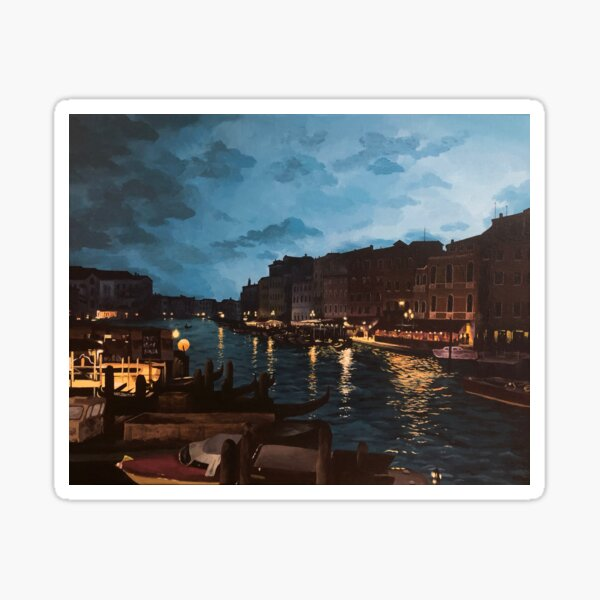 Night at the Grand Canal Sticker