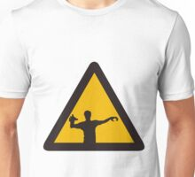 Warning - Zombies Unisex T-Shirt
