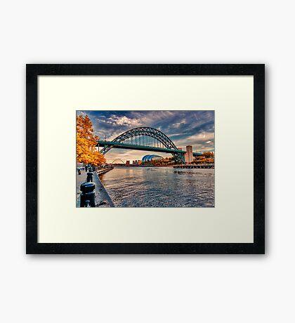 Autumn on the River Tyne Framed Print
