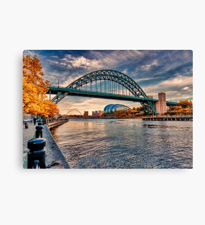 Autumn on the River Tyne Canvas Print
