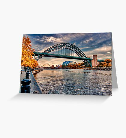 Autumn on the River Tyne Greeting Card