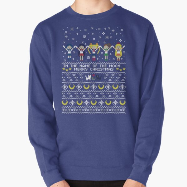 In the name of the moon.. Merry Xmas! Pullover Sweatshirt