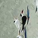 Black Skimmer Among Terns Abstract Impressionism by pjwuebker