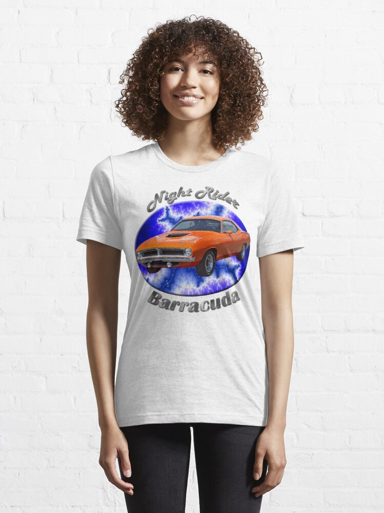 Alternate view of Plymouth Barracuda Night Rider Essential T-Shirt