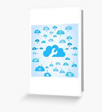 Industry a cloud Greeting Card