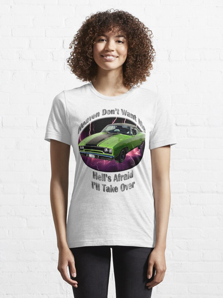 Alternate view of Plymouth Roadrunner Heaven Don't Want Me Essential T-Shirt