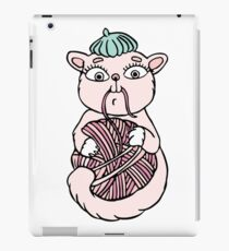 Cat in beret playing with ball iPad Case/Skin