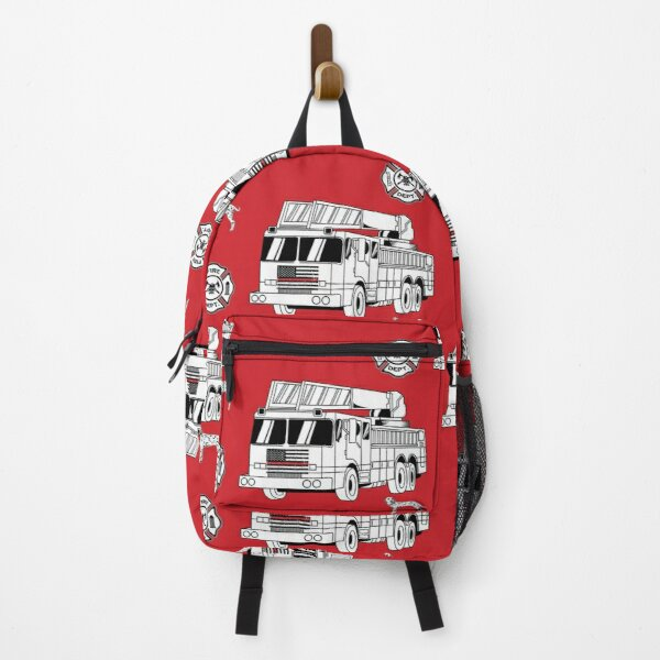 Firefighter Truck, Dalmation Dog And Shield Backpack