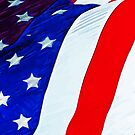 Flag of the United States Abstract Impressionism by pjwuebker