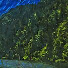 Lakeside Road to Seward Alaska Abstract Impressionism by pjwuebker