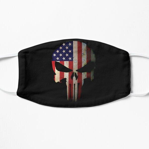 American Flag Skull Flat Mask