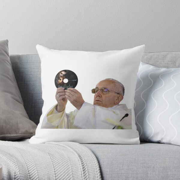 Pope Francis Loves Twilight Throw Pillow