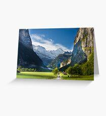 Lauterbrunen Valley, Switzerland Greeting Card
