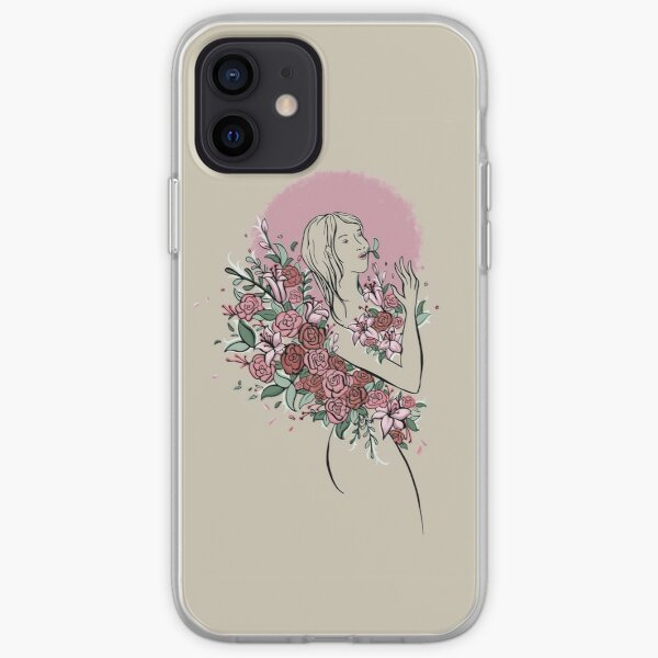 Drowning in Flowers  iPhone Soft Case