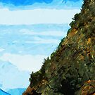 Outside the Bay of Seward Alaska Abstract Impressionism by pjwuebker
