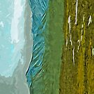 Mountains and Rivers of Denali Alaska Abstract Impressionism by pjwuebker