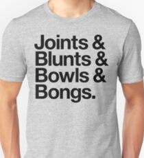 Joints & Blunts & Bowls & Bongs (v2) Unisex T-Shirt