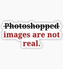 Images are not real Sticker