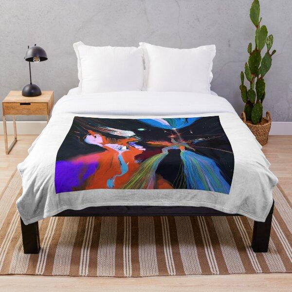 Lost in Dreamfields Far Away Throw Blanket