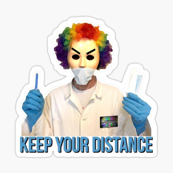 Dr. Clown Sticker Sticker