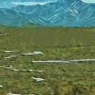 Denali Alaska Rivers Abstract Impressionism by pjwuebker